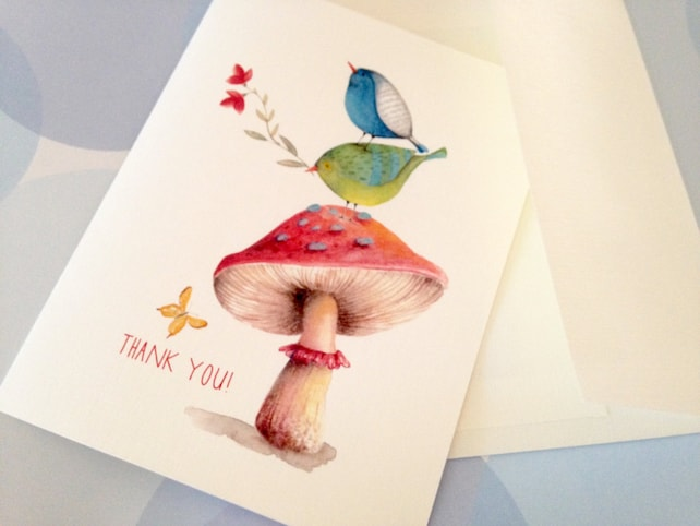 Greeting Cards, Note Cards, Stationery, Card Set, Personalized Card, Thank You Card, Bird Card, Cute Card, Set of 8