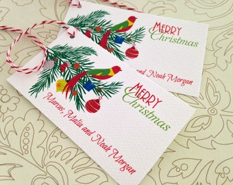 Personalized Christmas Gift Tags, Holiday Tags, Christmas Tags, Set of 20