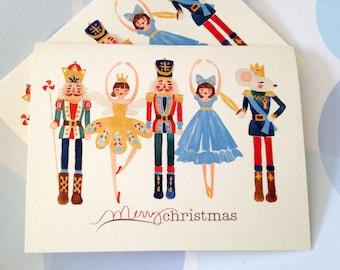 Christmas Card, Holiday Cards, Nutcracker