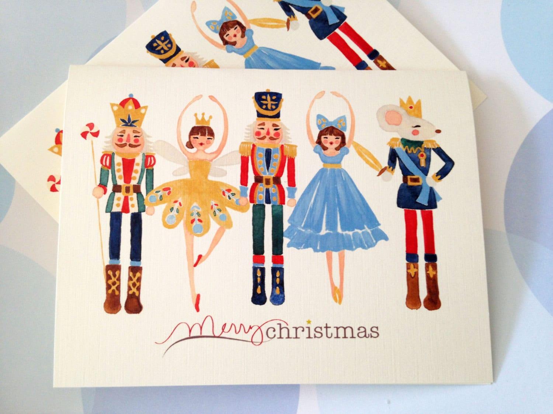Christmas Card Holiday Cards Nutcracker | Etsy