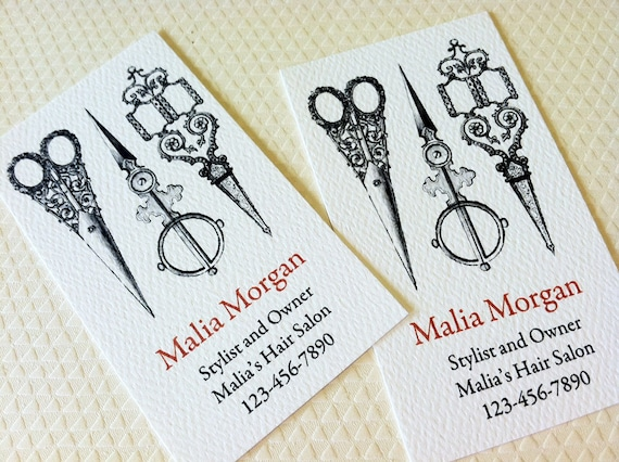 Business Card Custom Business Card Sewing Stylist Seamstress Etsy