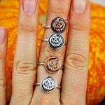 Pumpkin ring - Halloween jewelry - Halloween ring - Sterling silver Pumpkin ring