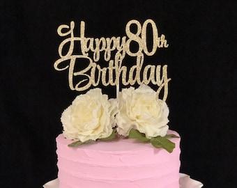 Enjoyable 80Th Birthday Cake Etsy Personalised Birthday Cards Sponlily Jamesorg