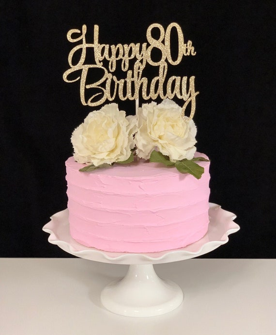 Fine Happy 80Th Birthday Cake Topper Etsy Funny Birthday Cards Online Alyptdamsfinfo