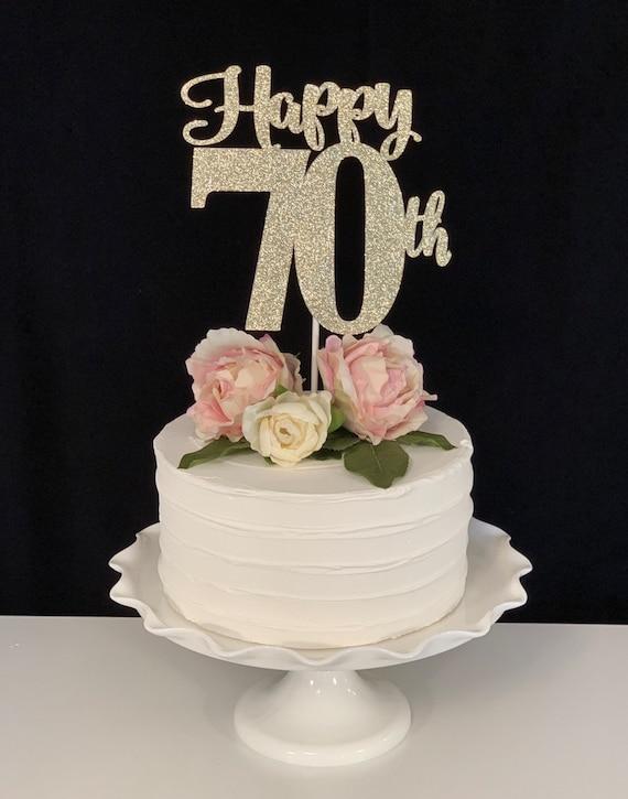 Terrific Happy 70Th Birthday Anniversary Cake Topper Etsy Funny Birthday Cards Online Bapapcheapnameinfo