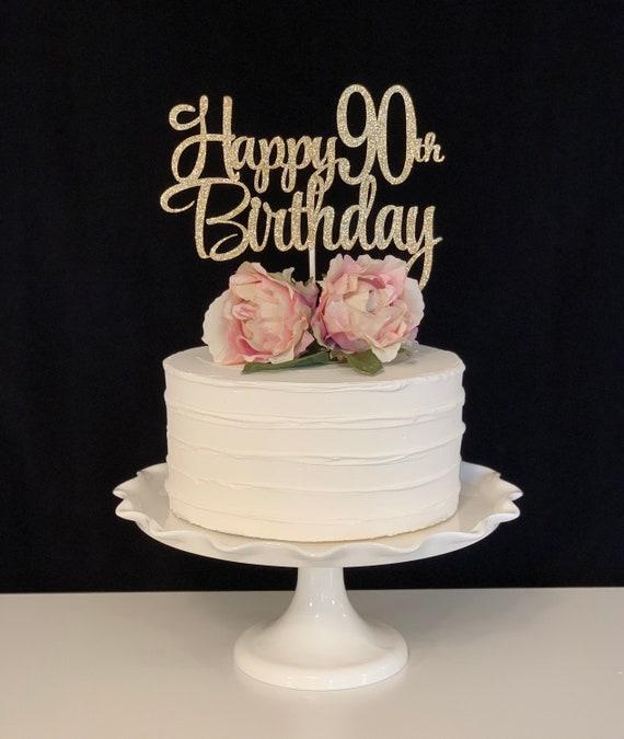 Astonishing Happy 90Th Birthday Cake Topper Etsy Personalised Birthday Cards Paralily Jamesorg
