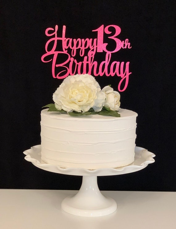 Fabulous Happy 13Th Birthday Cake Topper Etsy Funny Birthday Cards Online Eattedamsfinfo