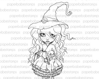 Digital Stamp - MayLeeDee Witchily - Digital image for papercrafts