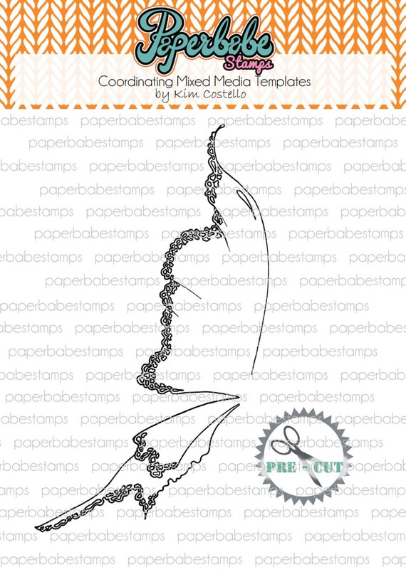 Fairy Wing Template   Mixed Media Templates Winter Fairy Wing Paperbabe Stamps Etsy