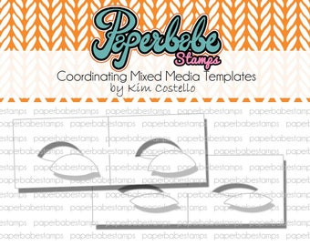 Mixed Media Eye Templates ~ Eye masks - Paperbabe Stamps - Mylar templates - For mixed media, paper crafting and scrapbooking.