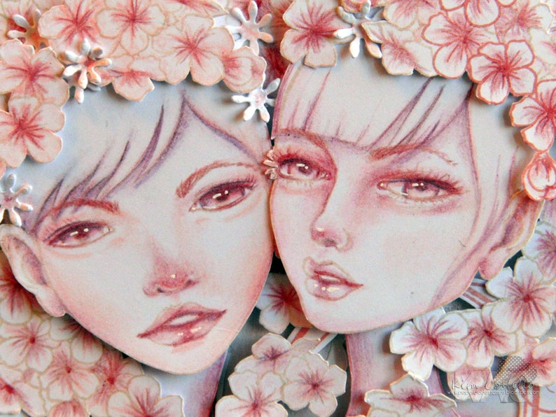 Metal Cutting Die /& Stamp Set Jointed Paper Art Doll - Paperbabe Stamps For paper crafting and scrapbooking. HEAD 3QTR VIEW LEFT
