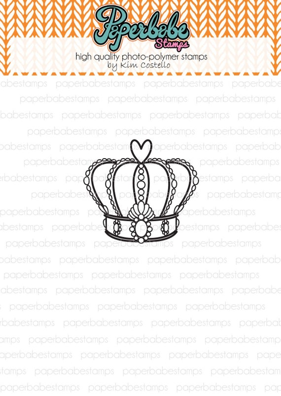Ornate Crown Paperbabe Stamps Photopolymer Stamp