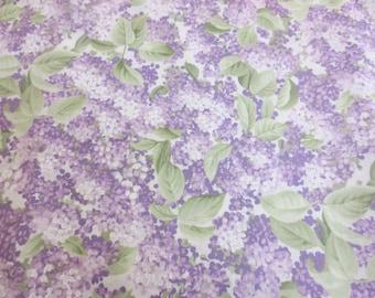 Marisa by Sentimental Studios for Moda, pattern # 15831, Cotton Fabric Print, Liliacs, Purple, Lavender, and Green, Per Yard