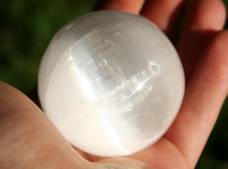 Selenite Sphere Crystal Ball image 0