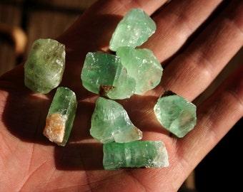5 Emerald Green Calcites