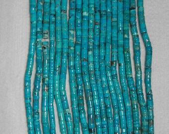 Turquoise, Turquoise Heishi, Grade AA+, Heishi Beads, Natural Stone, Aqua Heishi, Semi Precious Stone, Half Strand, 4.5-5 mm, AdrianasBeads