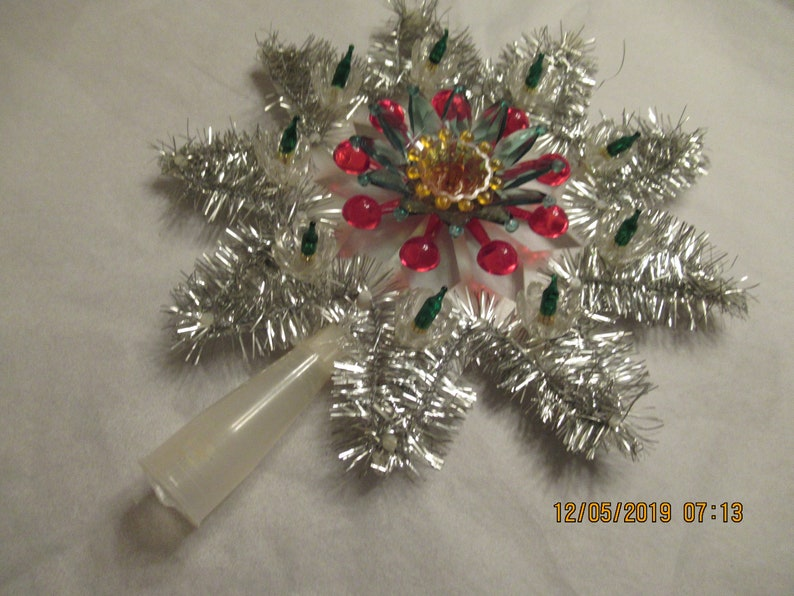 Vintage Reworked Unlighted Christmas Tree Topper