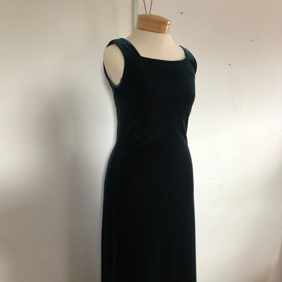 vtg dress, vintage green dress, vintage maxi dres… - image 4