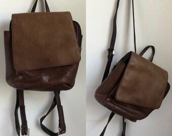 vtg mini backpack, vintage leather backpack, vintage backpack, 90s backpack, madison & max, vintage 90s accessories, 90s purse, back packs