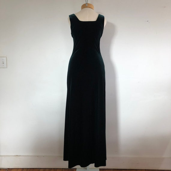 vtg dress, vintage green dress, vintage maxi dres… - image 3