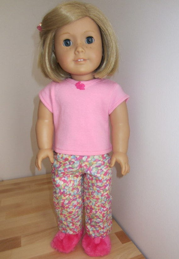 "18/"" doll clothes-fits American Girl Boy  My Life-Pajamas-Flannel-Pink Hearts O"