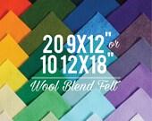 Wool Felt Sheets Choose your own colors Felt Square, Wool Fabric, Nonwoven Fabric, Merino Wool, Waldorf Felt, Custom Felt Colors