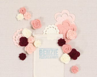 Wool Blend Felt Felt Balls And Embroidery By Benziedesign On Etsy