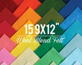 """Wool Felt Sheets // 15 9x12"""" Sheets // Choose your own colors // Wool Felt Sheets, Felt Sampler, Rayon Fabric, Craft Felt, Colorful Supplies"""