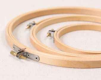 Wood Embroidery Hoops // Circle // Hoop Art, Wall Art, Natural Wood Supplies, Cross Stitch Hoop, Craft Notions, Round Edges, High Quality