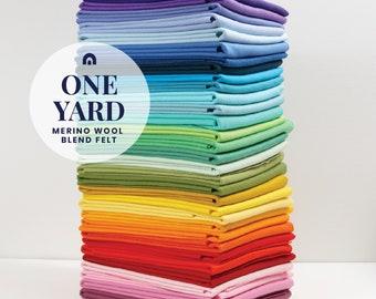 One Yard of Wool Blend Felt // Felt, Felt Yardage, Merino Felt by the Yard, Wool Blend Felt, Wool Felt Fabric, Wool Felt Kit, Felt Shop