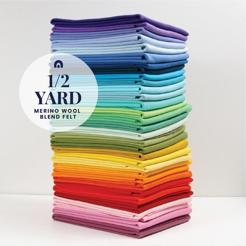 Felt by the Yard // 1/2 yard // Wool Blend Felt Merino image 0