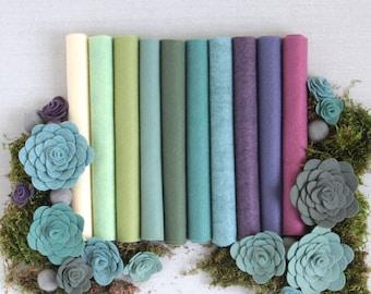 Wool Felt // Sweet Succulents // Felt Succulents, Wool Felt Sheets, DIY Felt Plants, Felt Flowers, Felt Garden, Desert Plants, Benzie Design