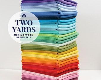 Two Yards of Benzie's Wool Blend Felt // Felt Yardage, Felt by the Yard, Merino Felt, DIY Craft Supply, Wool Felt Fabric, Wool by the Yard
