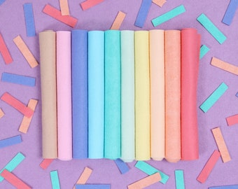 Wool Felt // Sprinkles Palette // Pastel Wool Felt Sheets, Felt Food, Felt Kids Crafts, Pastel Rainbow, Wool Blend Felt, Ice Cream, Donuts