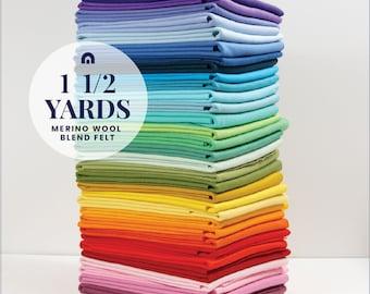 One and a half yards of Benzie's wool blend felt // Felt Yardage, Merino Felt by the Yard, Wool Blend Felt, Wool Felt Fabric,  Wool Felt Kit