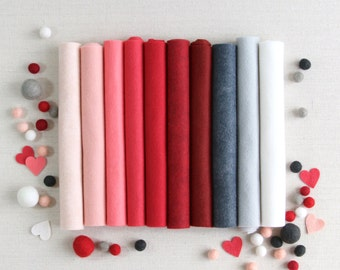 Wool Felt // Loved and Lost // Valentine Garland, Red Felt, Heart DIY, Valentine Colors, Sweetheart Wool, Heart Fabric, Classroom Valentines