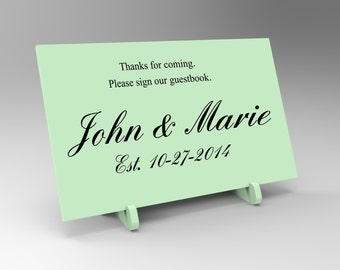 Custom Wedding Signing Book or Puzzle Sign.