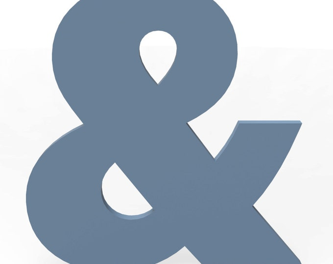 """Custom Hand Cut Letter & Ampersand 12"""" tall Painted Finish in your choice of Color and Font."""