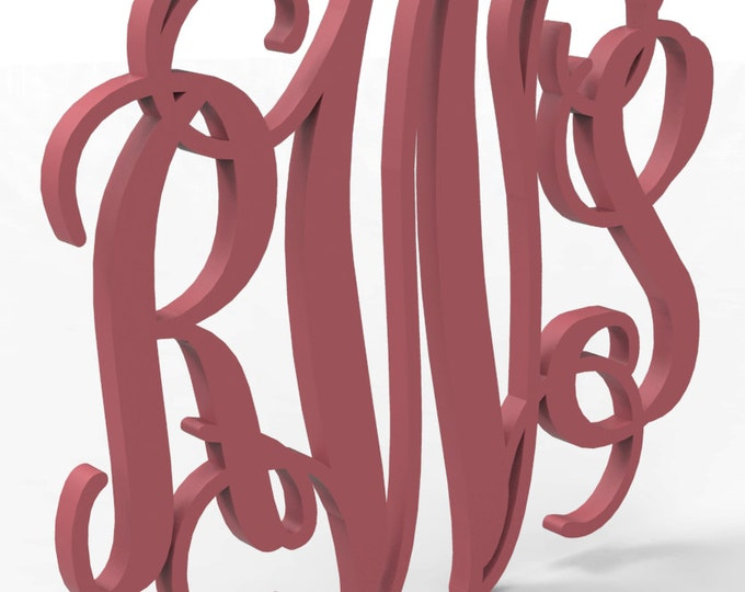 """3 Letter Monogram 18"""" tall Custom Made and painted in your choice of color."""