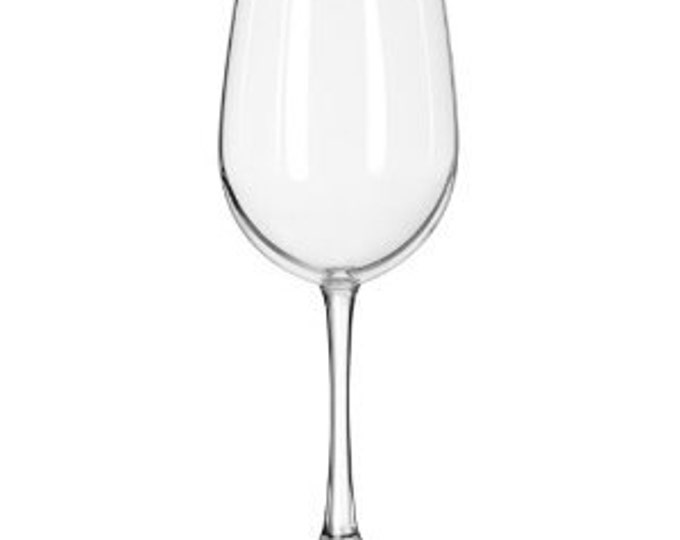 10 Personalized Groomsman Vine Monogram 16 oz  Custom Engraved Wine Glasses