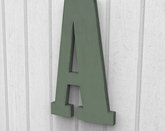 "Custom 12"" Tall Letter A Cut and Painted 12"" tall finished in your choice of Colors."