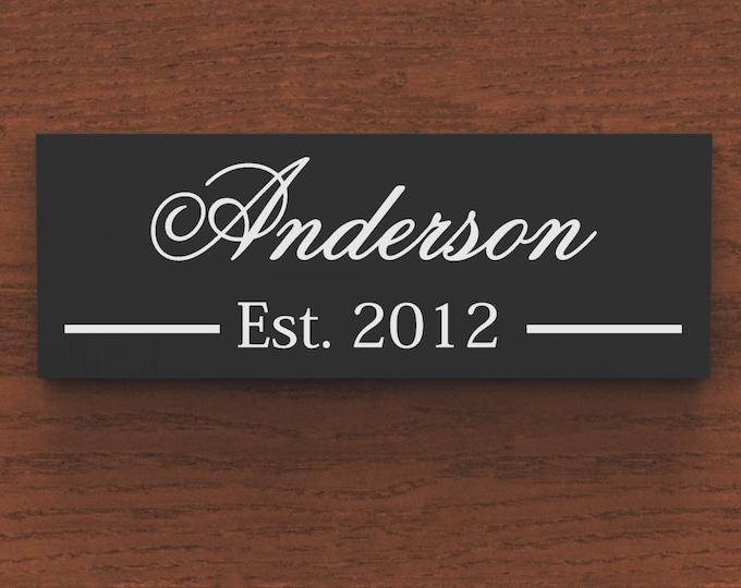Family Name Sign, Last Name Sign, family Established Custom Wood Sign wedding gift.