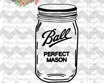 Mason Jar Decal Etsy