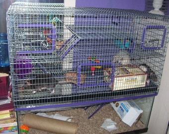"15"" tall 20L Aquarium Tank Topper Cage Funhouse Gerbil Rat Hamster Degu 20 gallon long"