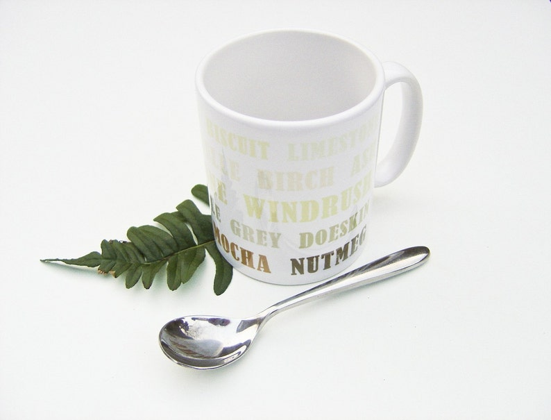 Letterpress Typography Print Mug  Walk in the Woods  image 0