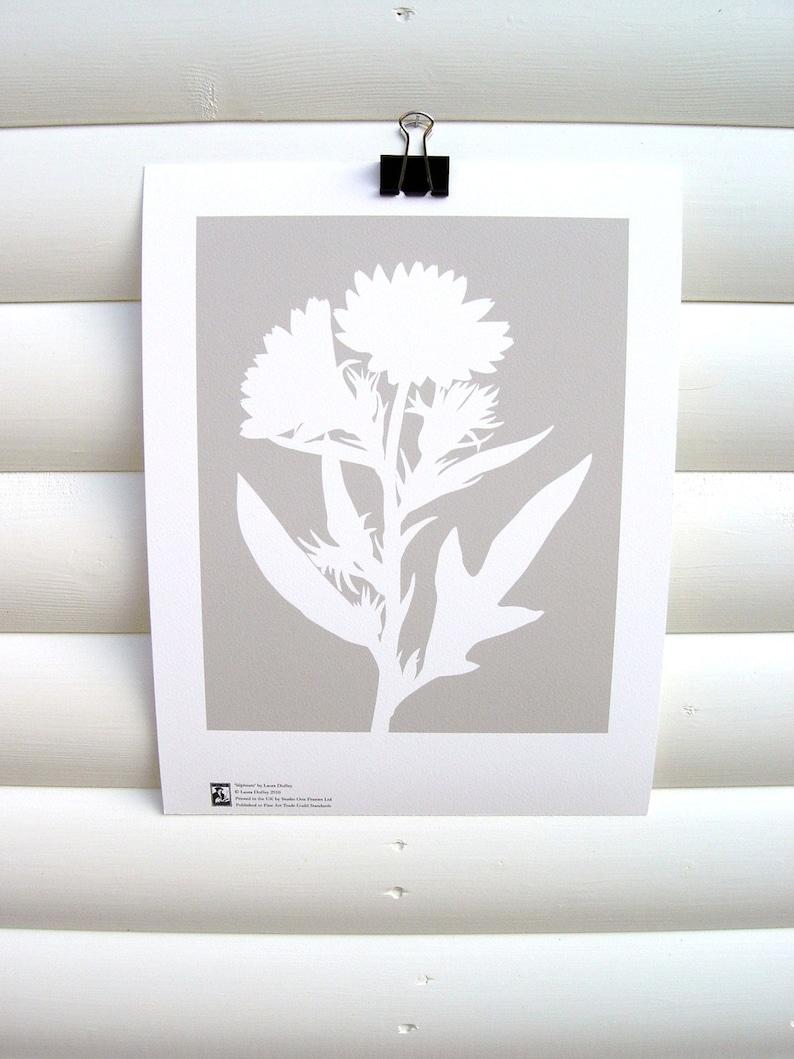 Botanical Art Print 10x8  Modern Botanical Floral Pretty image 0