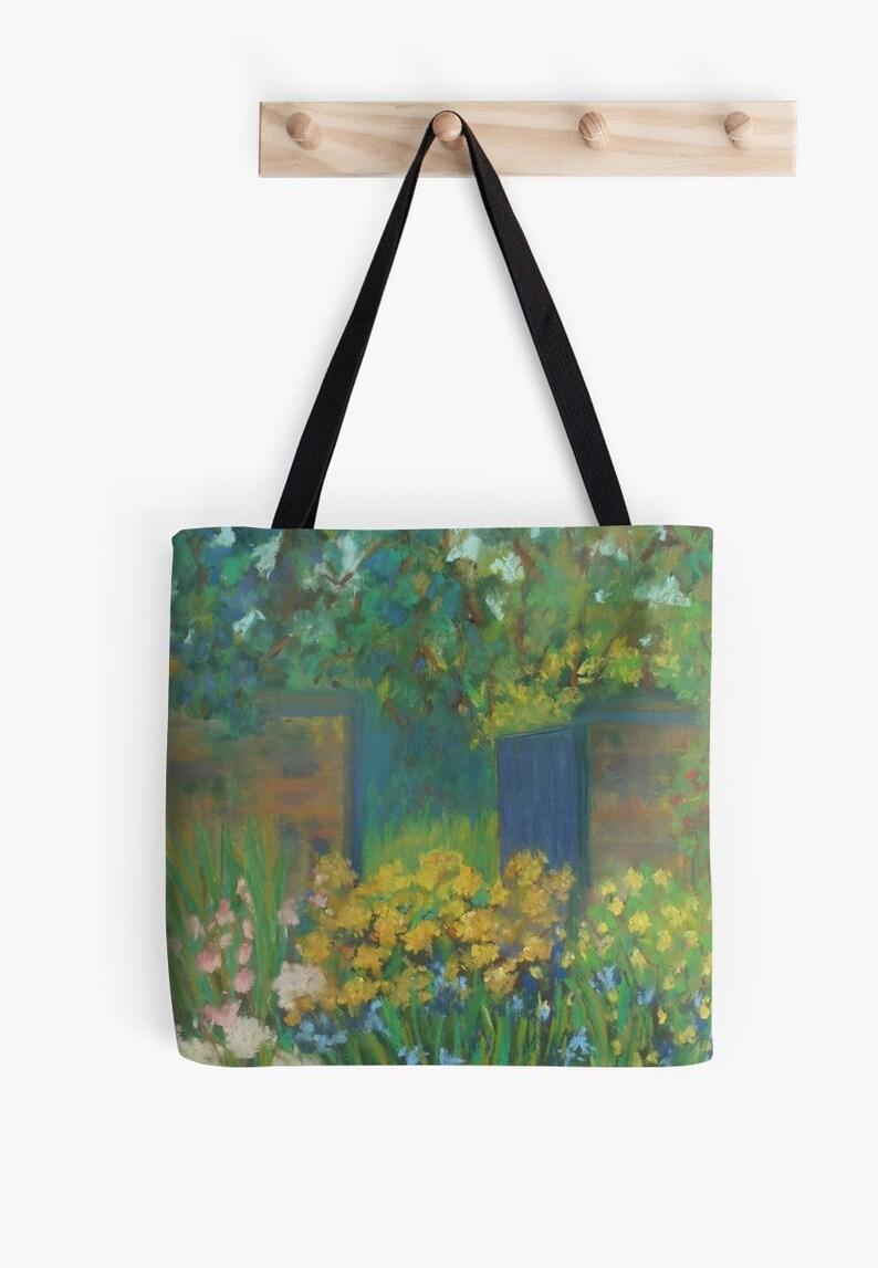 Secret Garden Landscape Scenery Tote Bag  Artist's Pastel image 0