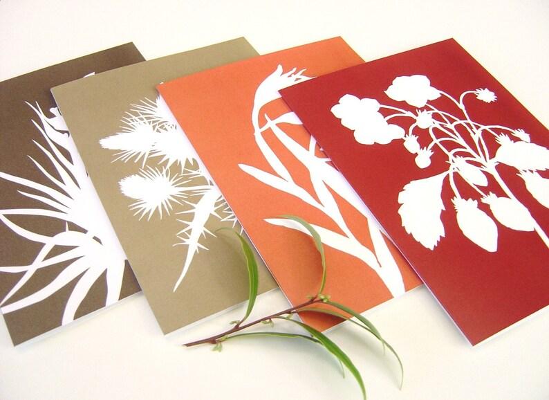 Botanical Postcards  Tangerine Orange Garnet Red Brown in image 0