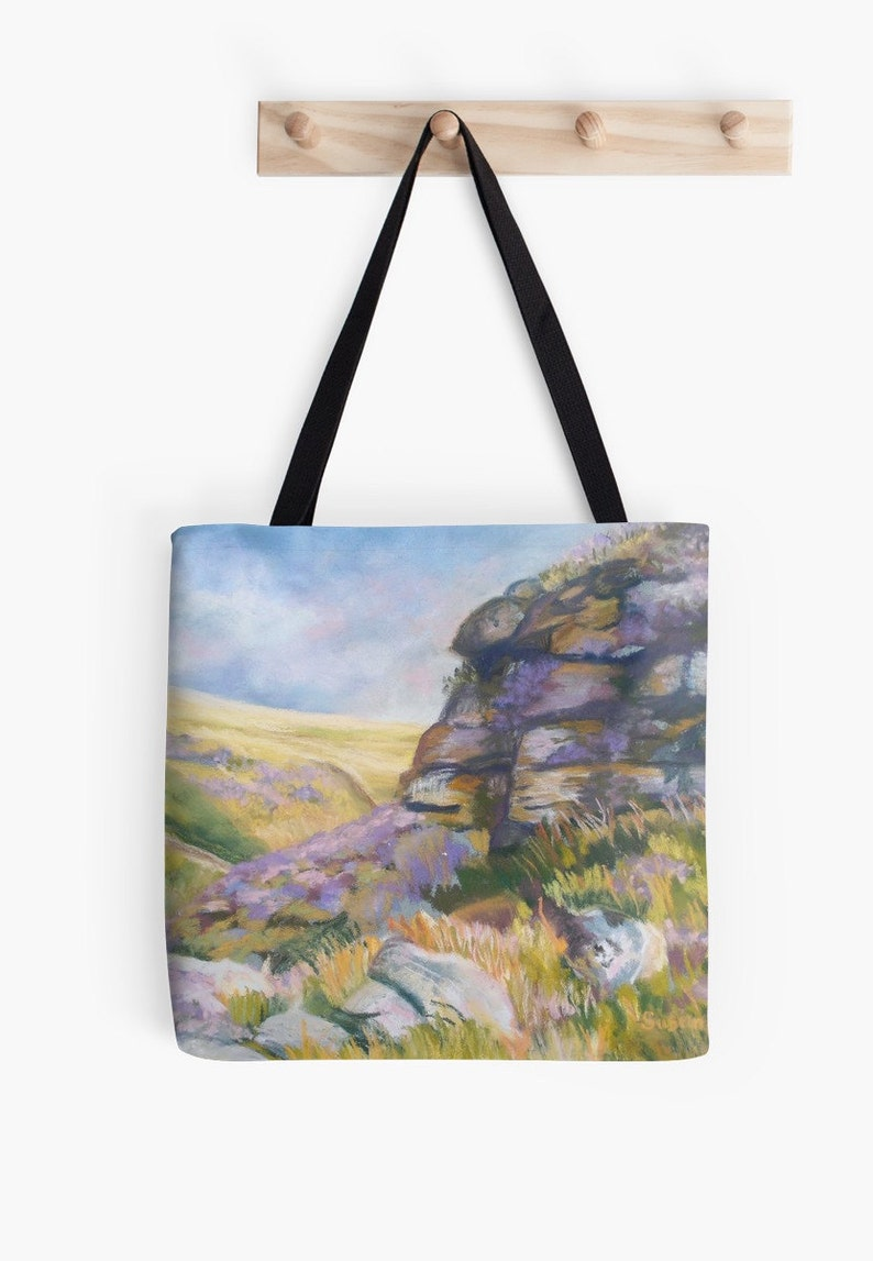 Yorkshire Moors Landscape Scenery Tote Bag  Artist's image 0