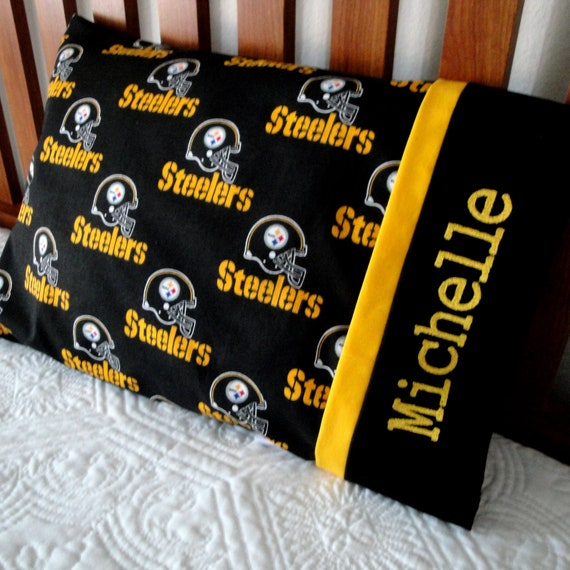 Hand Made! LOOP! Flannel STEELERS NICE CASES MY Travel  Pillow Case